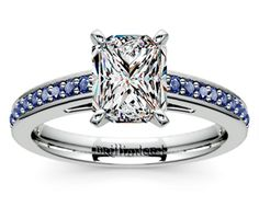 Radiant Cathedral Sapphire Gemstone Engagement Ring in Platinum  http://www.brilliance.com/engagement-rings/cathedral-sapphire-gemstone-ring-platinum