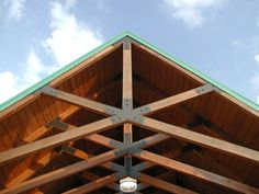 Nice scissors trusses with steel plates.