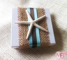 Starfish Burlap Wedding Favor
