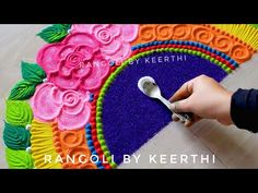 Vinayaka chavithi rangoli l Rangoli for pola l Rangoli designs vinayagar/ ganesh chaturthi rangoli - YouTube