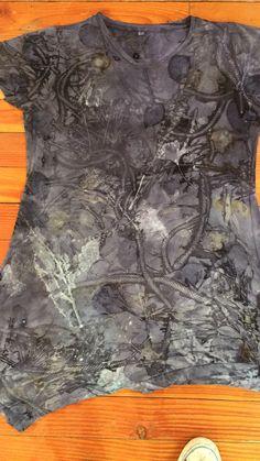 Botanical print on rayon dress, created by Tash Wesp