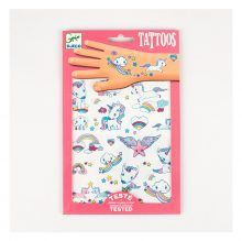 tatouages-licorne-de-djeco-unicorn - Rainbow - enfants - arc-en-ciel - kids