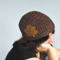 20s inspired brown crocheted hat by Faite on Etsy, $35.00 Headbands, Crocheting, Scarves, Crochet Hats, Inspired, Sewing, Knitting, Trending Outfits, Brown
