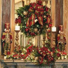 Christmas Joy Decorated Greenery Collection