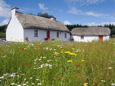 Thatched cottage in Donegal, Ireland. Awesome restoration project, too! Irish Cottage, Old Cottage, Cottage Homes, Cottages By The Sea, Stone Cottages, Country Cottages, Country Homes, Thatched Roof, Irish Traditions