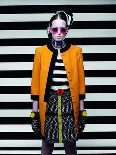 Fab colour block coat - Collarless