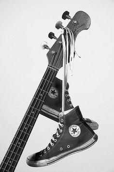 - Rock and Roll necessities - #Music #picture #photograph #photography #bass #Shoes #Converse http://www.pinterest.com/TheHitman14/music-in-picture-%2B/ Bass, Guitar, Flat, Guitars, Lowes