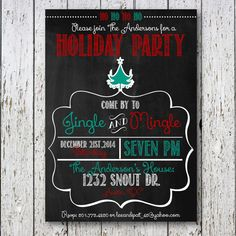 Christmas Party Invitation Holiday party