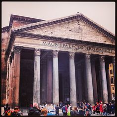 Rome sightseeing: The pantheon #travel #italy #rome #pantheon #sightseeing #church