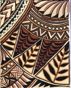 Repinned: polynesian painting-artist-Clint Delacy  Great idea to have the inside of the store lined in Siapo inspired print but in color.