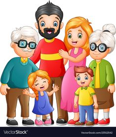 Happy family cartoon vector image on VectorStock Foto Cartoon, Cartoon Images, Family Drawing, Drawing For Kids, Cute Family, Happy Family, Cartoon Familie, Selfie Foto, Flashcards For Kids