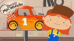 Cartoni animati per bambini: La Dottoressa Mac Wheelie e la gara di corsa