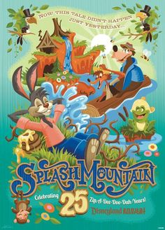 Annual Passholder 25th Anniversary Splash Mountain Poster Give Away
