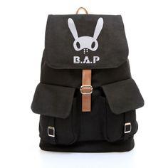 Korean-style-Backpack-Rucksack-Canvas-Travel-Satchel-Shoulder-Bag-School-Bookbag