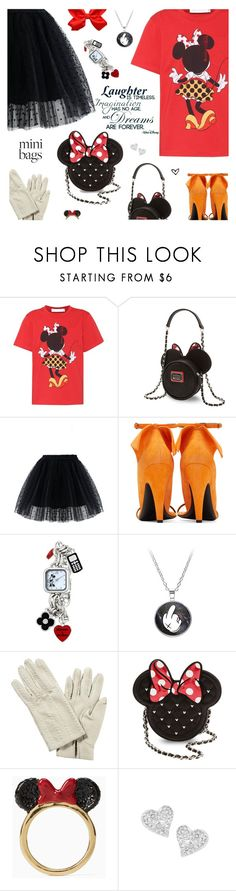 """Mini Minnie"" by annbaker ❤ liked on Polyvore featuring Victoria Beckham, Loungefly, Chicwish, Disney, Hermès, Kate Spade, Vivienne Westwood and minibags"