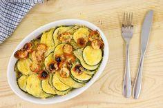Aardappel-courgetteschotel Met Pruimtomaatjes recept | HelloFresh