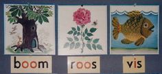 Leesplankje: boom roos vis #dutch #childhood #memories