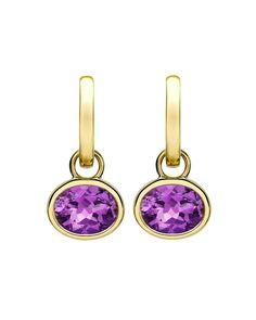 18k Gold Eternal Amethyst Drop Earrings - Kiki McDonough