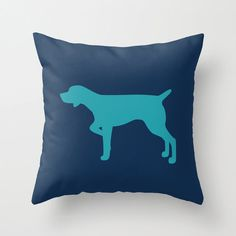Pointer Silhouette Throw Pillow (Cover ONLY) : Solid Custom Colors