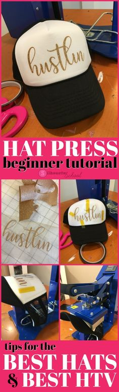 Are you new to heat pressing? This tutorials will tell you all you need to know about adding heat transfer vinyl to hats!