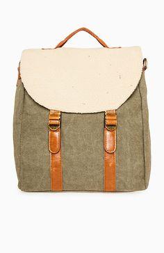 Canvas Satchel Backpack