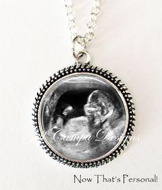 YOUR BABY'S Sonogram Necklace Your baby's door NowThatsPersonal