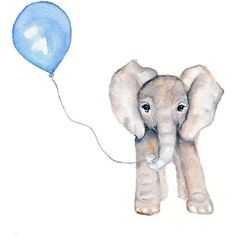 Nursery Decor, Elephant and blue balloon 8 X 10, watercolor nursery... ($12) ❤ liked on Polyvore featuring fillers, animals, doodle, drawings, art, backgrounds, phrase, quotes, saying and scribble