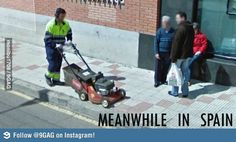 Meanwhile in Spain Lol, Best Funny Pictures, Outdoor Power Equipment, Spain, Humor, Instagram, Sevilla Spain, Humour, Funny Photos