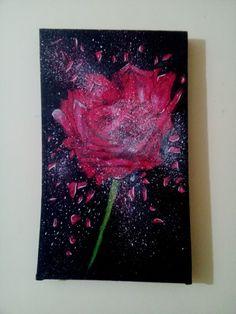 Splash Rose canvas painting