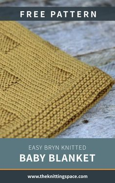 Easy Bryn Knitted Baby Blanket [FREE Knitting Pattern] Looking for a last-minute knitted baby shower gift? Try your hands on this cozy knitted baby blanke Winter Knitting Patterns, Beginner Knitting Patterns, Easy Knitting, Knitting Patterns For Babies, Baby Blanket Knitting Pattern Free, Knitting Beginners, Free Pattern, Loom Knitting, Knitting Needles