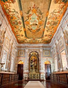 An Insider's Guide to Lisbon: A richly decorated chapel inside the São Vicente de Fora Monastery.