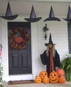Halloween front door deco