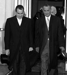 Outgoing Vice President Nixon and Vice President-elect Lyndon Johnson leave the White House on the morning of January for the Kennedy–Johnson inauguration ceremonies Greatest Presidents, American Presidents, Current President, Vice President, Inauguration Ceremony, John Fitzgerald, Teenage Years, Jfk, How To Be Outgoing