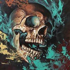 Y Chromosome Shit Clowns, Badass Skulls, Crane, Creepy Images, Skull Pictures, Celtic Dragon, Airbrush Art, Crystal Skull, Grim Reaper