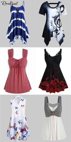 Rosegal plus size casual outfits women fashion tops ideas