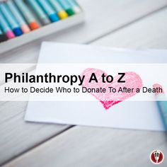 Includes a list of charities that may be the right fit for you. #charity #memorial #donation