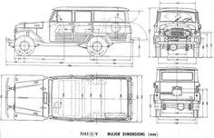 Toyota Land Cruiser FJ45V (1964) | SMCars.Net - Car Blueprints Forum
