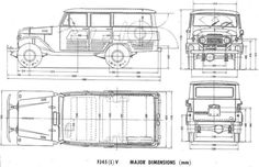 Toyota Land Cruiser FJ45V (1964) | SMCars.Net - Car Blueprints Forum
