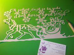 'Jingle bells' Original papercut by Nina Byers