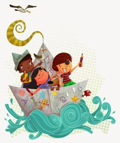 Painting for kids, art for kids, character illustration, graphic design ill Drawing For Kids, Painting For Kids, Art For Kids, Children's Book Illustration, Character Illustration, Illustration Children, Cartoon Kids, Cute Cartoon, Classe Dojo