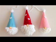 undefined Diy Felt Christmas Tree, Felt Christmas Decorations, Handmade Christmas, Christmas Crafts, Christmas Gnome, Felt Crafts Diy, 242, Diy Weihnachten, Silicone Glue