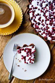 Tarta jogurtowa z granatem (yoghurt tart with pomegranate) Chocolate Fondue, Panna Cotta, Ethnic Recipes, Blog, Cakes, Dulce De Leche, Cake Makers, Kuchen, Blogging