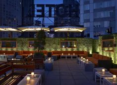 Empire Hotel Rooftop | NYC They have free drinks with Overtime RSVP. I don't know what that means, but anything free on top of a roof, I'm willing to check out.