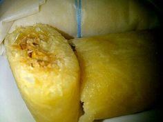 Pasteles en hoja de Yuca y Pollo