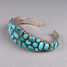 Cluster Bracelet, c. 1940, Shiprock Santa Fe