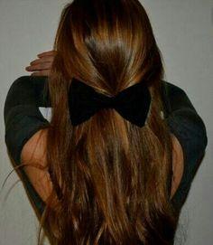 Black bow in Carmel hair. Love love love