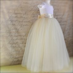 Tulle skirt with ribbon waist overtop a simple (and comfy!) white tee.