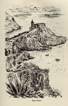 Porto Venere, Hill Towns of Italy. Illustrated by David Gentleman