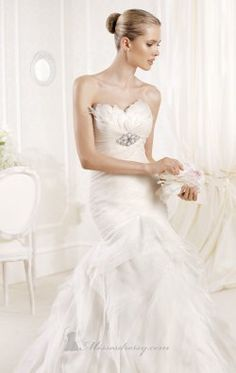 Strapless Embellished Gown  by La Sposa MIRRA