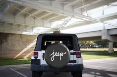 """-White cursive """"jeep"""" design -Choose from sizes 25""""-35"""" -Check out our """"how to measure your tire"""" guide before choosing a size -Tire covers are exceptional quality, made from heavy duty marine weight"""
